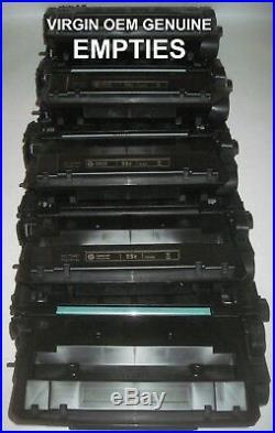 10 EMPTY Virgin OEM Genuine HP 55X Laser Toner Cartridges CE255X FAST FREE SHIP
