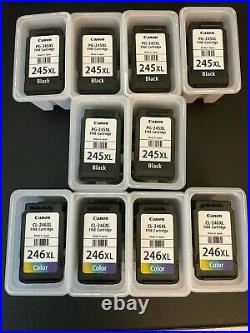 10 Empty Canon 245XL / 246XL ink cartridges for refill