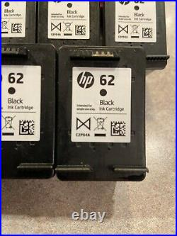 10 Empty HP 62 Tri-color ink (3) and (7) Black Ink Cartridge Empty Printer Cart