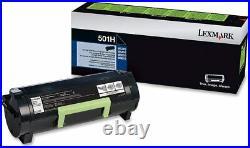 (10) Lexmark 501H 50F1H00 Virgin EMPTY OEM Toner Cartridges MS310 410 510 610