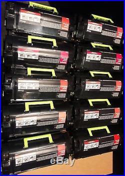 10 Virgin Genuine Empty Dell Lexmark MS810 Toner Cartridges FREE SHIP 521