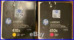 2 Factory Sealed Genuine HP CF412X Yellow CF413X Magenta Toner Cartridges 410X