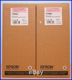 2 Genuine Epson T5966 Vivid Light Magenta Ink Cartridges- Factory Sealed Boxes