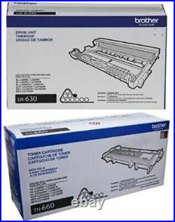 2 Genuine Factory Sealed Brother TN-660 Toner Cartridge and DR-630 Imaging Drum