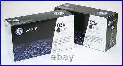 2 Genuine Sealed HP 03A Laser Toner Cartridges C3903A Black Box
