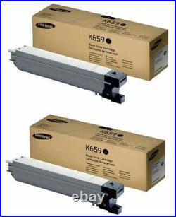 2 Genuine Sealed Samsung CLT-K659S Black Toner Cartridges CLX-8650ND CLX-8640ND