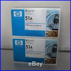 2 New FACTORY SEALED Genuine HP 51A Laser Toner Cartridges Q7551A