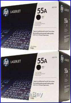 2 New Genuine FACTORY SEALED HP 55A Laser Toner Cartridges BOX DAMAGE