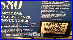 2 New Genuine Factory Sealed Brother TN-580 Toner Cartridges TN580