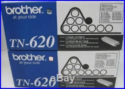 2 New Genuine Factory Sealed Brother TN-620 Black Toner Cartridges TN620