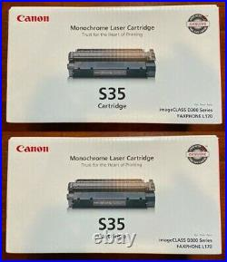 2 New Genuine Factory Sealed Canon S35 Black Toner Cartridges