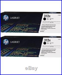 2 New Genuine Factory Sealed HP 312X Laser Toner Cartridges Black Box CF380X