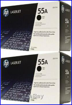 2 New Genuine Factory Sealed HP 55A Toner Cartridges CE255A Black Boxes