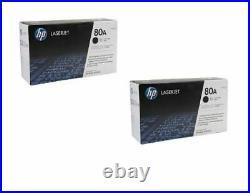 2 New Genuine Factory Sealed HP 80A Laser Toner Cartridges CF280A Black Box