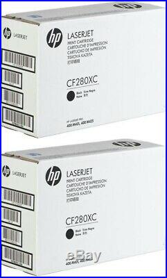 2 New Genuine Factory Sealed HP 80X Laser Cartridges CF280XC WRITING ON BOXES