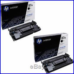 2 New Genuine HP 87A Laser Cartridges Toner Printer-Tested 100% Toner NO BOX