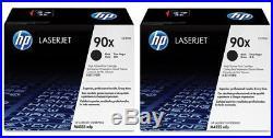2 New Genuine HP 90X Laser Cartridges Toner Printer-Tested 100% Toner NO BOX