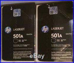 2 New Genuine NO BOX SEALED BAG HP Q6470A Black Laser Toner Cartridges 3600 3800