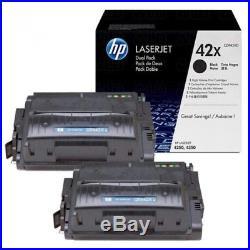 2 New Genuine OEM HP 42X Laser Cartridges Toner Printer-Tested 100% Toner NO BOX