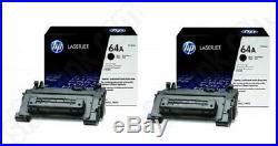 2 New Genuine OEM HP 64A Laser Cartridges Toner Printer-Tested 100% Toner NO BOX