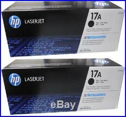 2 New Genuine Original Factory Sealed HP 17A Toner Cartridges CF217A