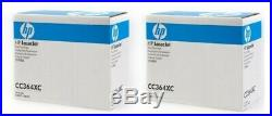 2 New Genuine Original Factory Sealed HP CC364XC Laser Toner Cartridges 64X