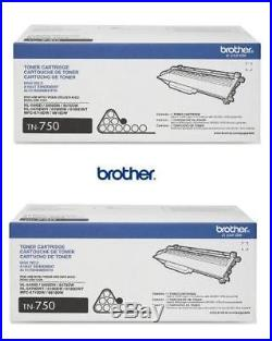 2 New Genuine SEALED BAG Brother TN-750 Laser Toner Cartridges TN750