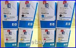 2 Sets New Genuine Sealed HP Q6470A Q6471A Q6472A Q6473A Toner Cartridges 502A