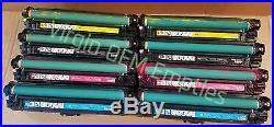2 sets Virgin Genuine Empty HP CE740A CE743A Toner Cartridges FREE SHIP 307A