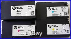 20 Sets (80) EMPTY Virgin Genuine HP 952XL CYMK Ink Cartridges Used FREE SHIP
