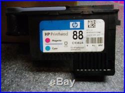 200 Empty OEM HP 88 Magenta/Cyan (C9382A) Printhead Ink Cartridges
