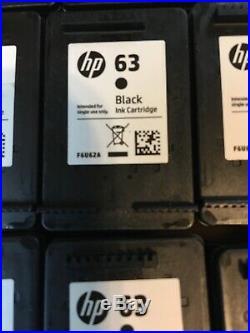 (23) Empty HP 63 Black Ink Cartridges HP 63 Black Never Refilled Virgin OEM