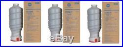 3 Genuine Konica Minolta TN910 Toner Cartridges Bottles BizHub Pro 920