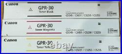 3 Genuine Sealed Canon GPR-30 Magenta Yellow Black Toners IR C5045 C5051 C5250