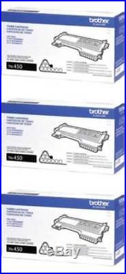3 New Genuine Factory Sealed Brother TN-450 Laser Toner Cartridges TN450