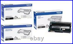 3 Total New Genuine Factory Sealed Brother TN-420 Toners & DR-420 Imaging Drum