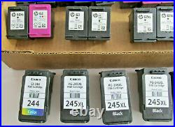 34 Empty HP & Cannon Printer Ink Cartridges, HP 56,57,60,61,62,63,67, Cannon 245
