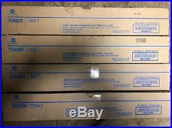 4 GENUINE KONICA MINOLTA TN326 BLACK TONERS AAJ6030 (BH 308e 368e) NEWithUNOPENED