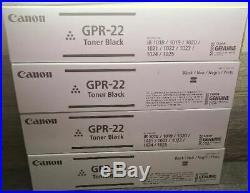 4 Genuine Factory Sealed Canon GPR-22 Black Toner Cartridges GPR22
