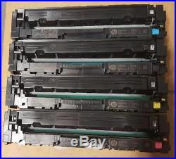 4 Sets Virgin Genuine Empty HP 201X Toner Cartridges All Colors + 2 Free Black