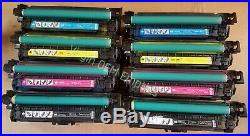 4 Sets Virgin Genuine Empty HP CE250A CE253A Toner Cartridges 504A
