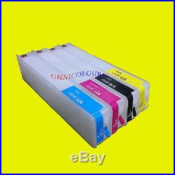 4 empty refillable compatible cartridge for HP 970 971 HP970 X476 X551 ink level