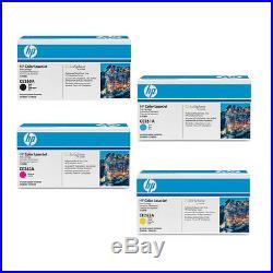 4 sets Virgin Empty Genuine HP Laser Cartridges CE260A CE261A CE262A CE263A