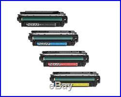 4 sets Virgin Empty HP CF320X CF321A CF322A CF323A Toner Cartridges 653A 653X