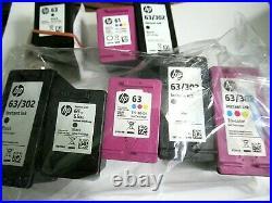 6 empty, + 2 partially, +1 full HP 61, 63, 65 printer cartridges