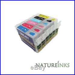 6 empty refillable ink cartridges PX700W PX710W PX720WD PX800FW PX800FW T0807
