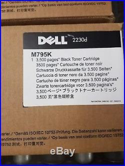 7 Genuine Empty Dell 2230d Toner Cartridges and Drum M797K M795K PK496