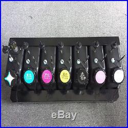 7 color UV LED ink tank 2 liter capacity ciss for UV LED universal with sensor