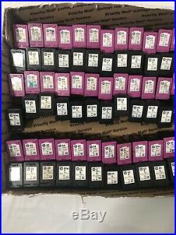 72 Virgin EMPTY HP 63 Standard& Xl Color And Black ink cartridges-Virgin