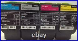 8 Sets Virgin Genuine Empty Lexmark CS310 CS410 CS510 701 801 Toners FREE SHIP